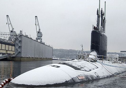 Snowy Homecoming for USS Virginia
