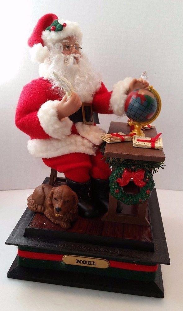 Santa Workshop Noel Music Box Letters Holiday Creations 1993