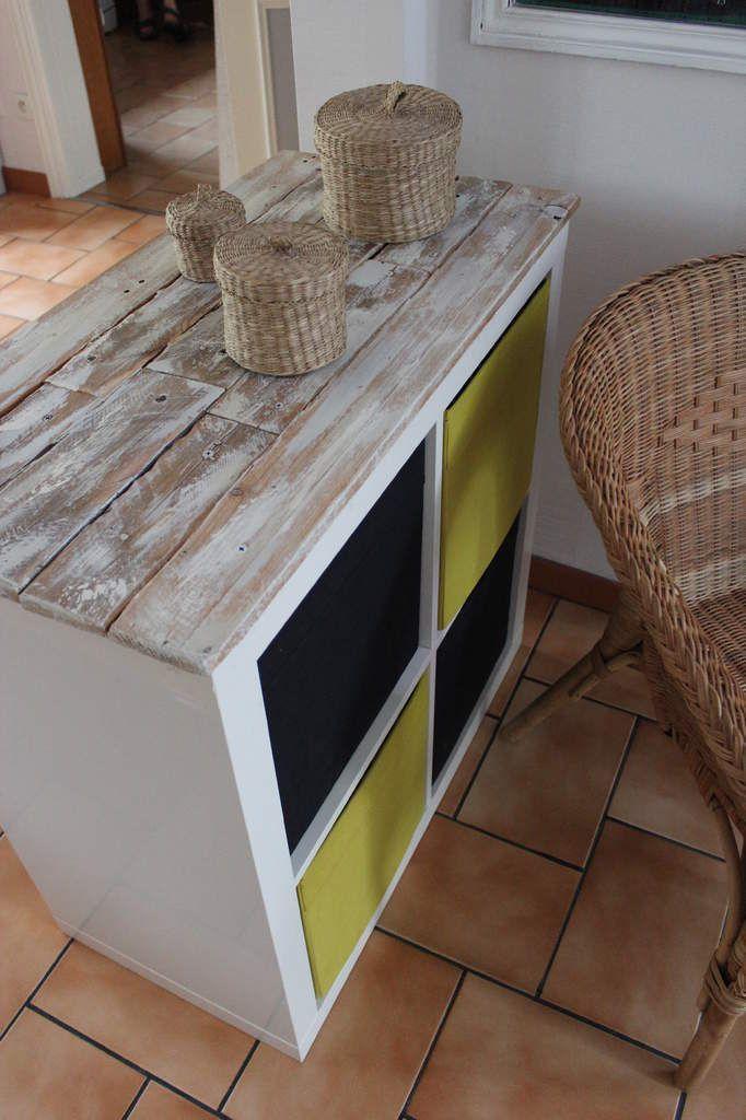 Customiser un meuble expedit avec une palette Bricolage maison - Bricolage A La Maison