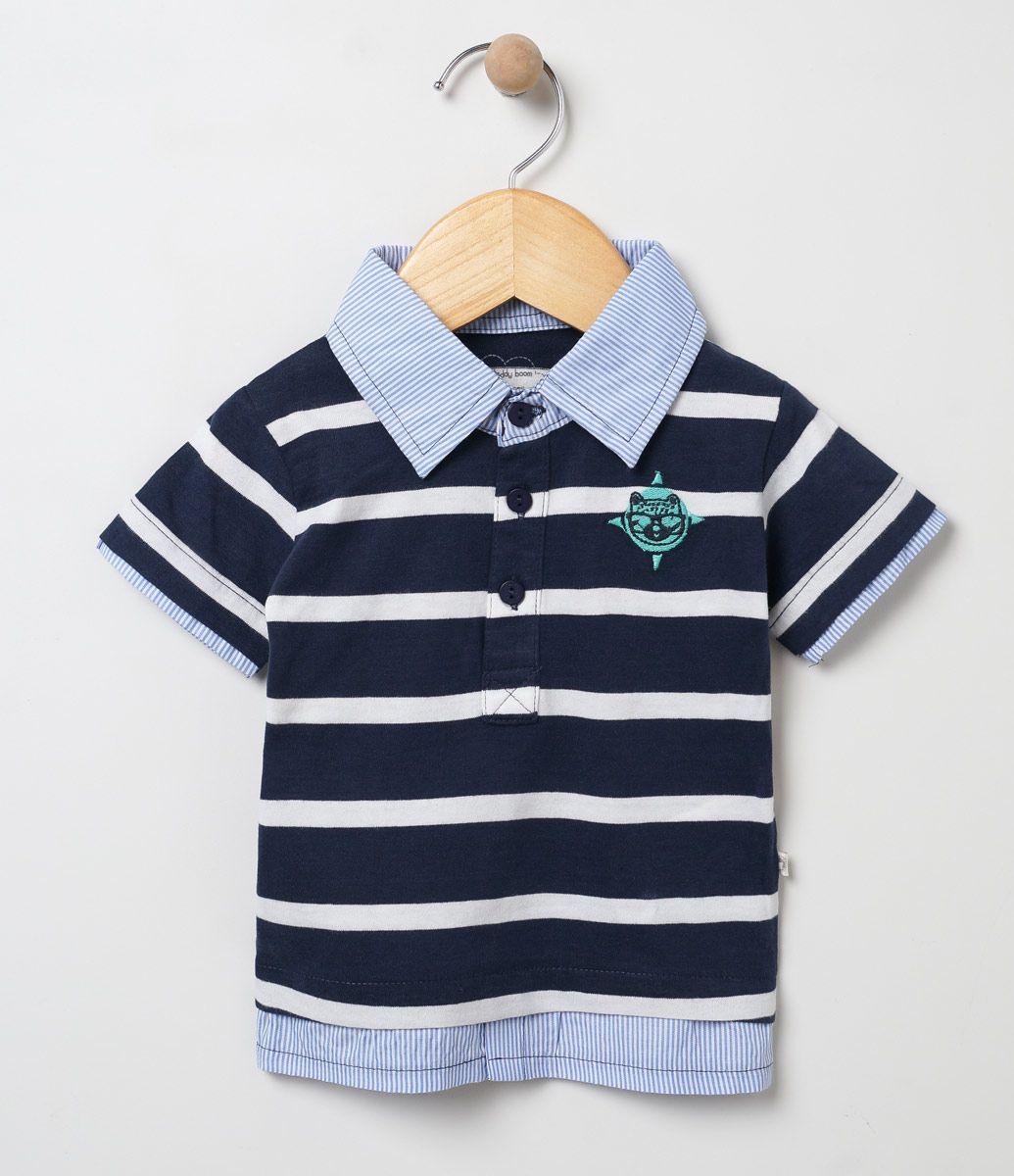 984ba333f Camisa Polo Azul Marisol - Marisol | Baby em 2019 | Polo, Kids outfits e  Polo Shirt
