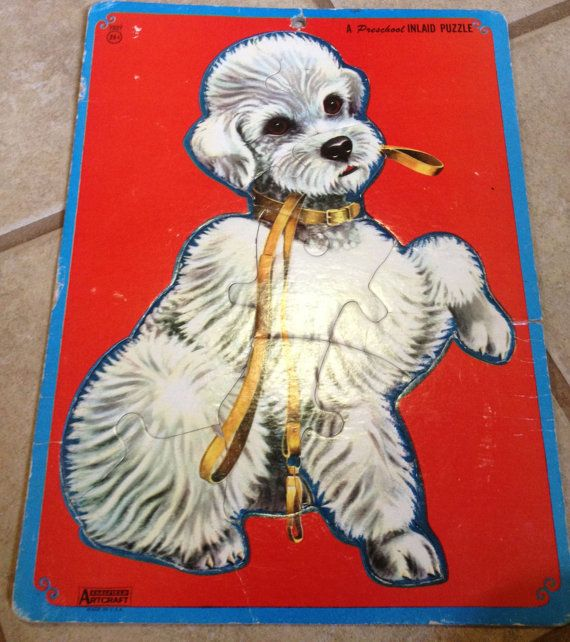 60s Poodle Puzzle by lishyloo on Etsy, $10.00