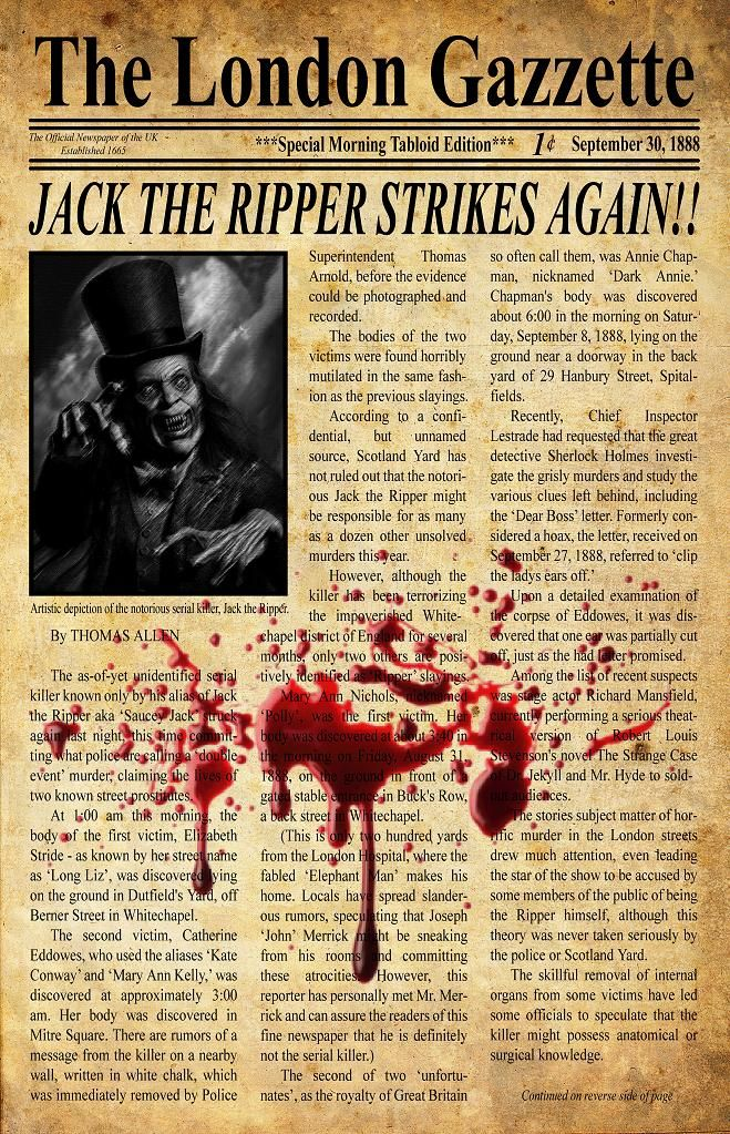 brilliant serial killer jack the ripper essay Jack the ripper: first american serial killer - ebook written by paul gainey, stewart evans read this book using google play books app on your pc, android, ios devices download for offline reading, highlight, bookmark or take notes while you read jack the ripper: first american serial killer.