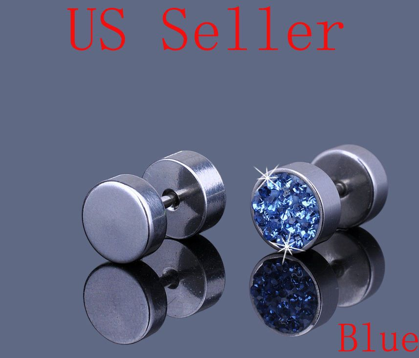 Best Designer Jewelry Stainless Steel Clear Crystal Post Earrings