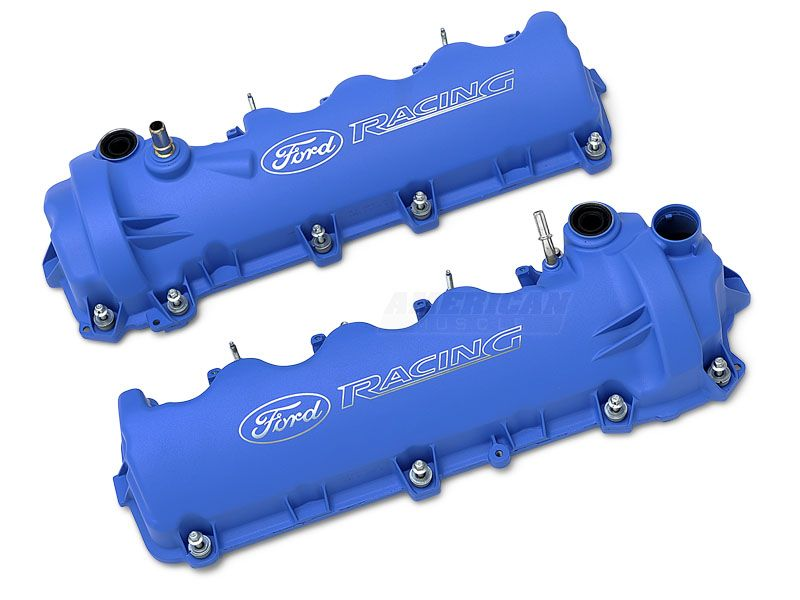Ford Performance Laser Etched Valve Covers Blue 05 10 Gt