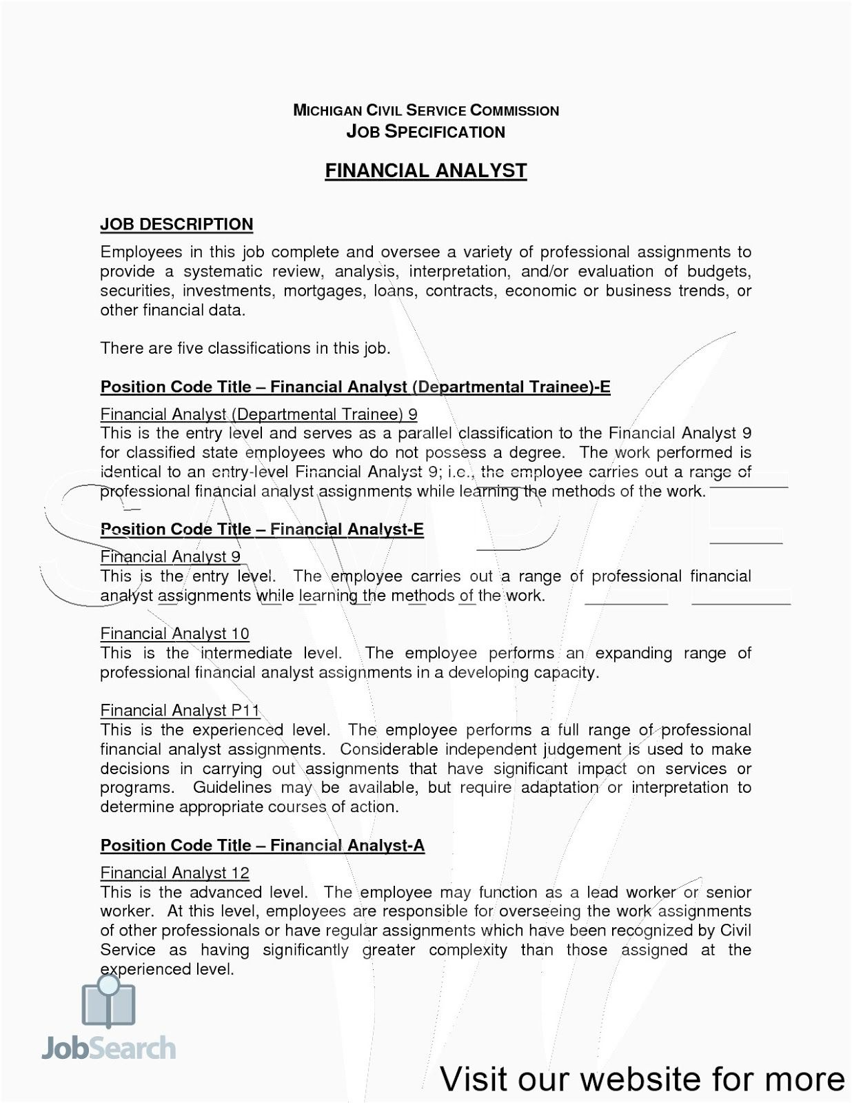 Financial Analyst Indeed Jobs Resume Template Free
