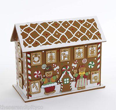 Wooden Christmas Gingerbread House Advent Calendar Tree Base