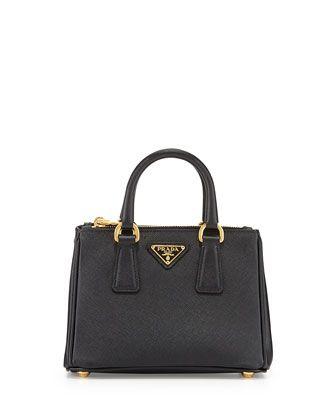 1de8e0c3a733 Saffiano Mini Galleria Crossbody Bag, Black (Nero) by Prada at Bergdorf  Goodman.