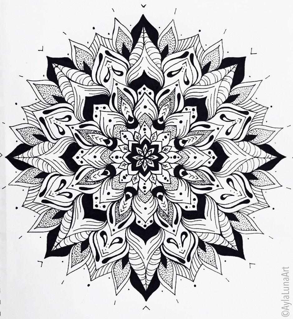 hand drawn mandala design by ayla bryden mandala. Black Bedroom Furniture Sets. Home Design Ideas