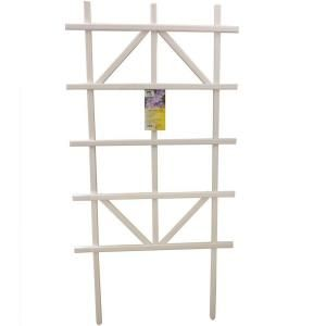 Casa Verde, 4 ft. White Composite Ladder Trellis ...