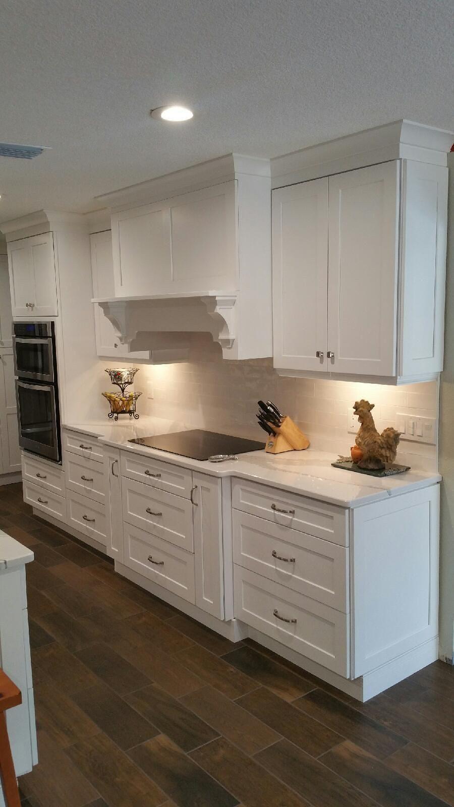 the bohrer kitchen after  white shaker cabinetry daltile