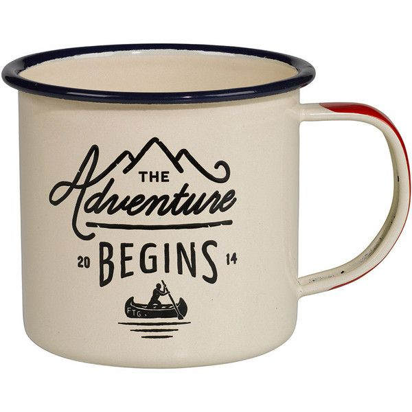 Dot & Bo Adventurer's Mug ($12) ❤ liked on Polyvore featuring home, kitchen & dining, drinkware, mugs, kitchen, fillers and food