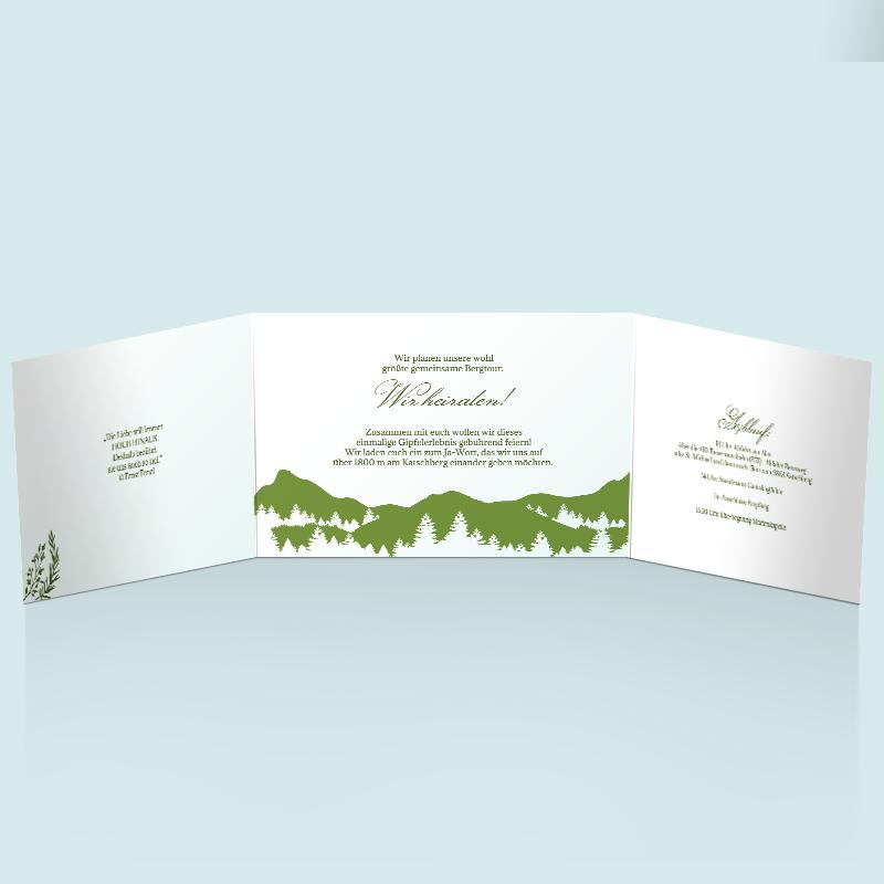 Hochzeitseinladungen Gipfel des Glücks Einladung zur Hochzeit