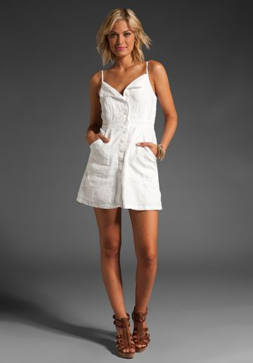 JUICY COUTURE Linen Sundress in White at Revolve Clothing - Free Shipping!
