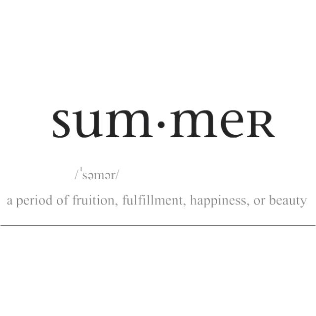 I want summer to come! No... Actually I NEED summer to come!