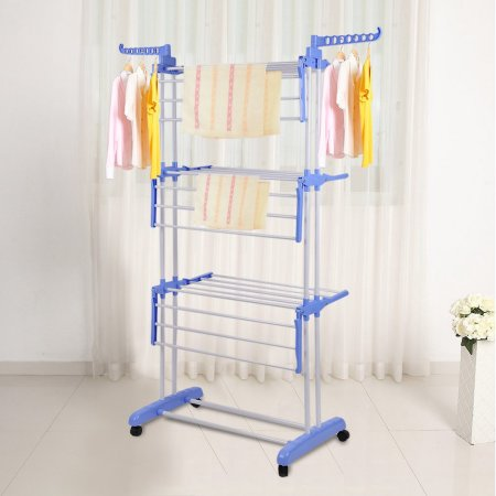 Foldable Stainless Steel Rolling Drying Rack Clothes Drying Rack Laundry Cloth Sho Hanging Clothes Drying Rack Clothes Drying Racks Folding Clothes Drying Rack