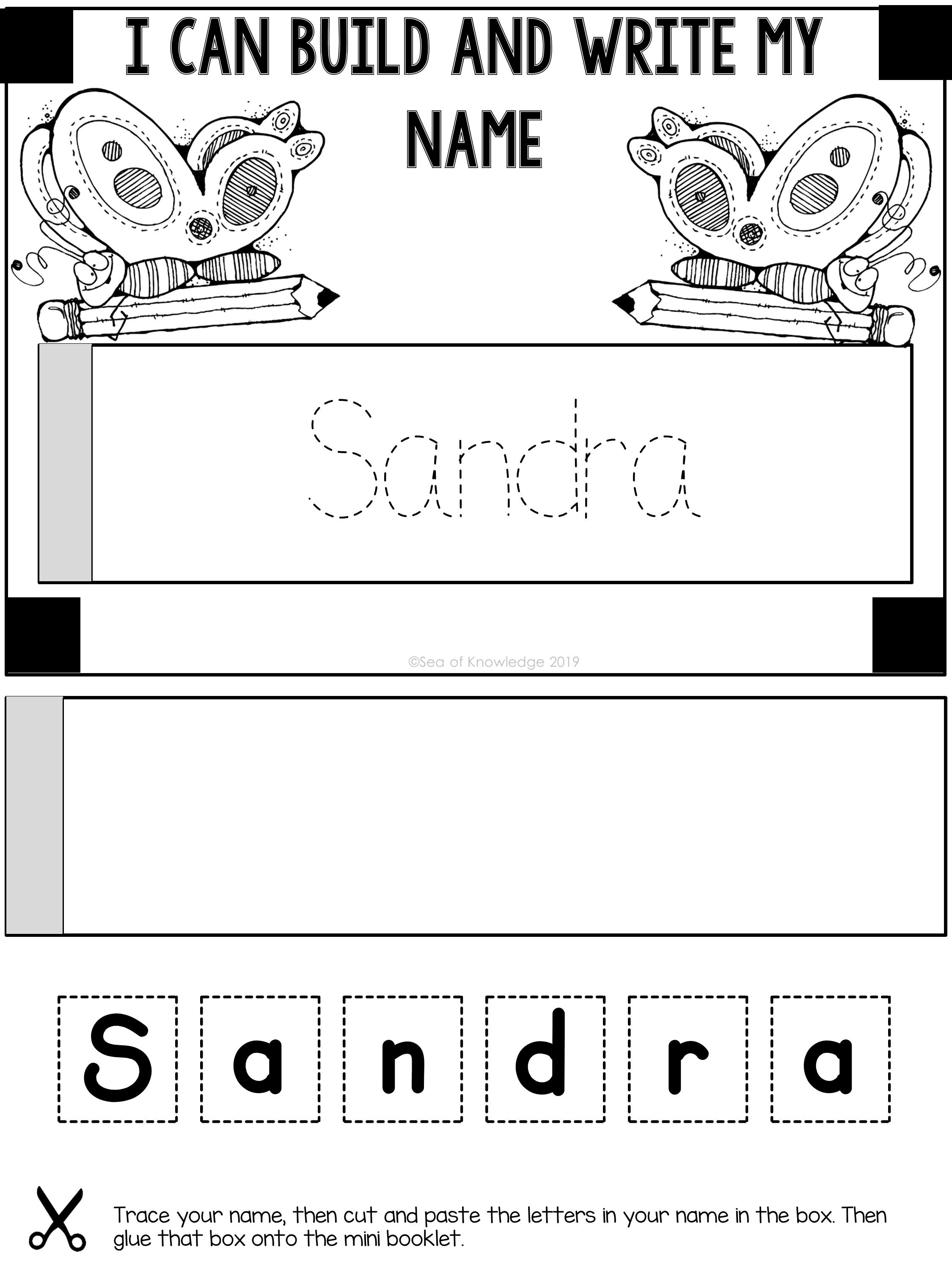 These Editable Name Practice Mini Books Are So Versatile