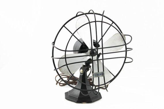 Antique 1930s Viking 10 Oscillating Desk Fan Antique Fans Antiques Vintage Fans