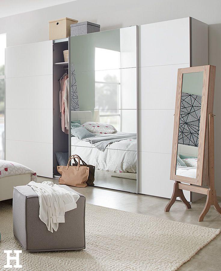 Dreamer eXpress Weißer Schwebetürenschrank Dreamer - der perfekte kleiderschrank schlafzimmer