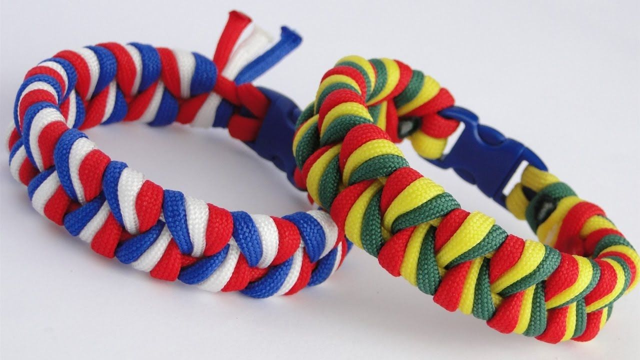 How To Make An Easy 3 Strand Braid 3 Color Paracord Bracelet