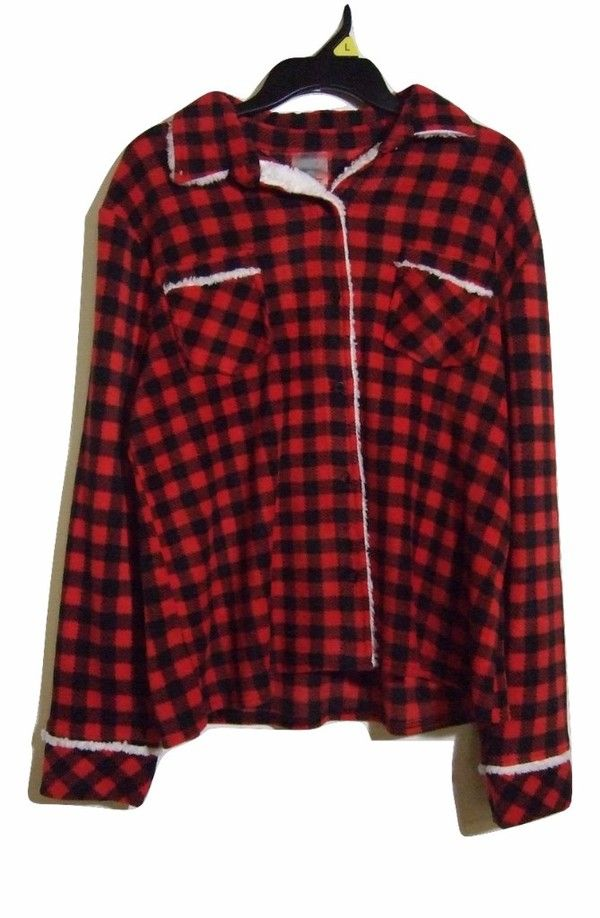 Women s Size Large Fuzzy Soft Plaid Shirt by Soft Sensations ... e89a755e4