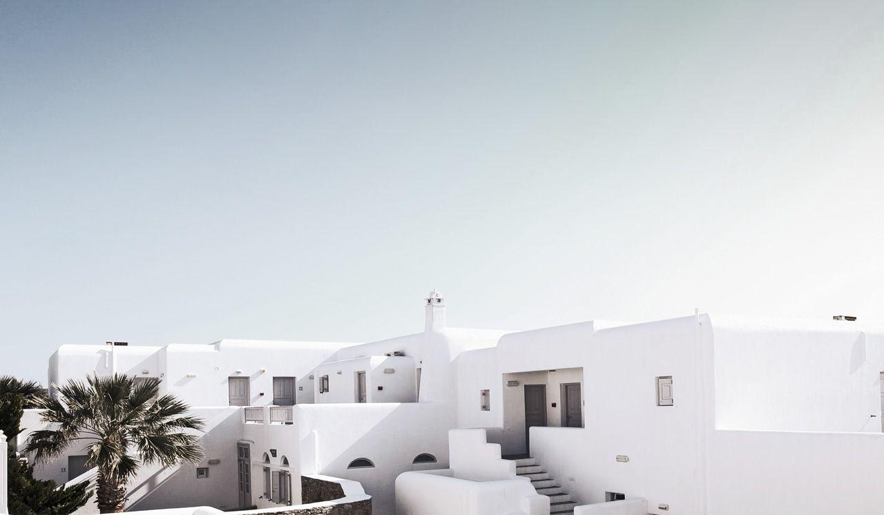 The whites of Mykonos.