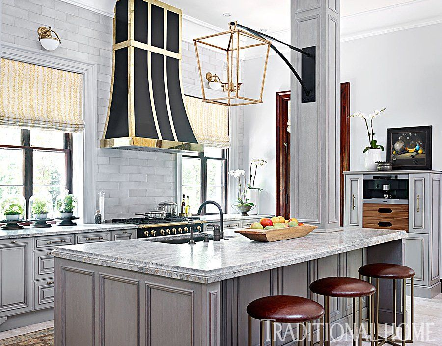 Best Grey And Brass In The Kitchen Kitchen Inspirations 400 x 300