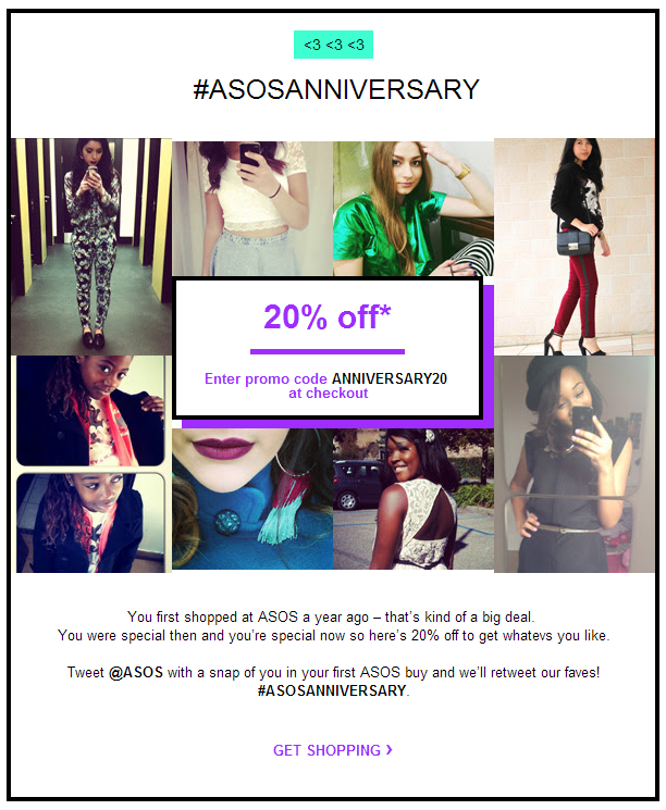 special section many fashionable super quality Loving this anniversary email from ASOS #emailmarketing ...