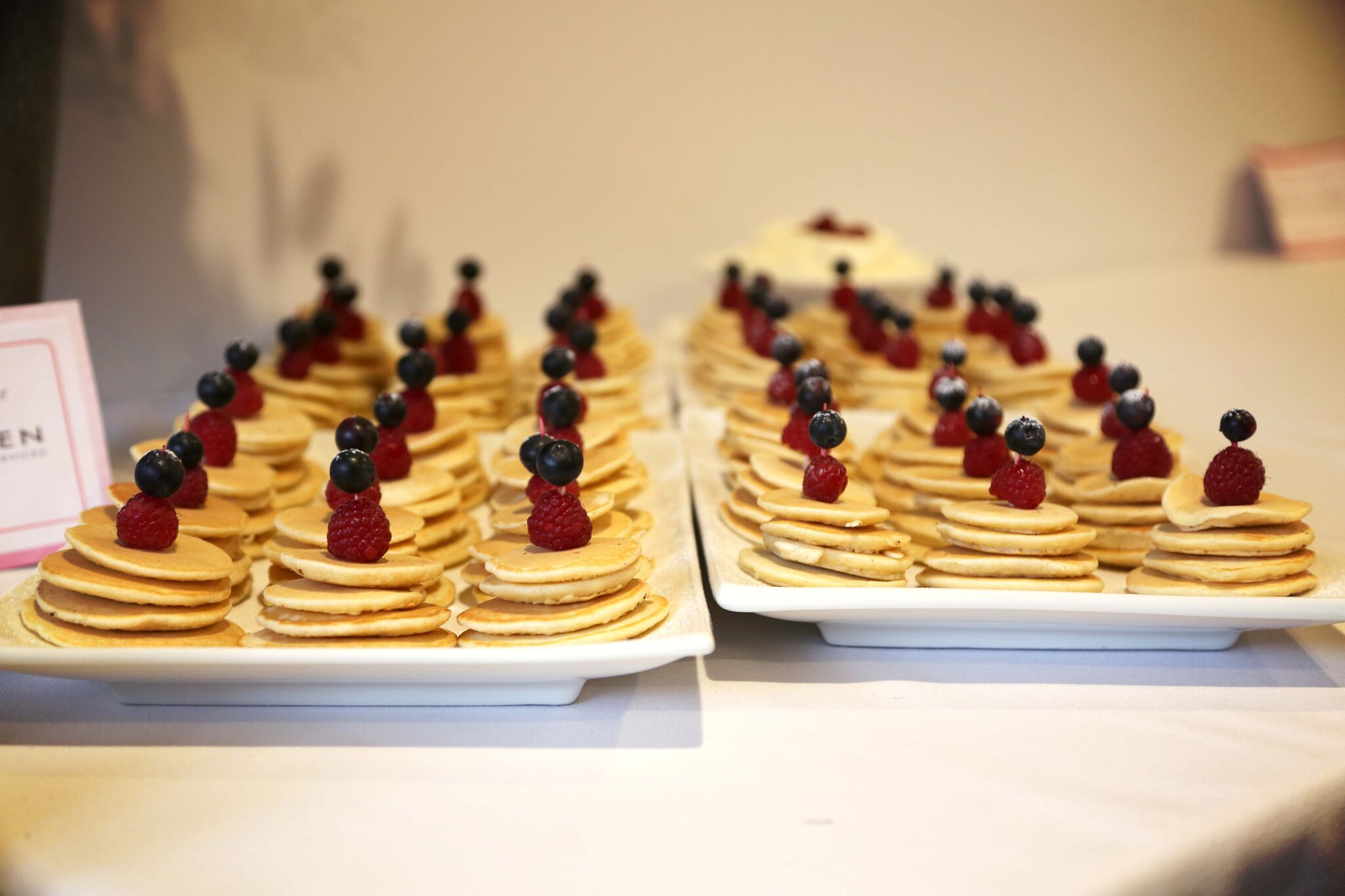 Mini Pikelets from the Pink Ribbon Breakfast... our
