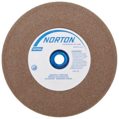 Norton Abrasives St Gobain Norton Gemini Bench And Pedestal Grinding Wheel Type 01 Round Hole Aluminum Oxide Abrasive Wheels Pedestal Abrasive