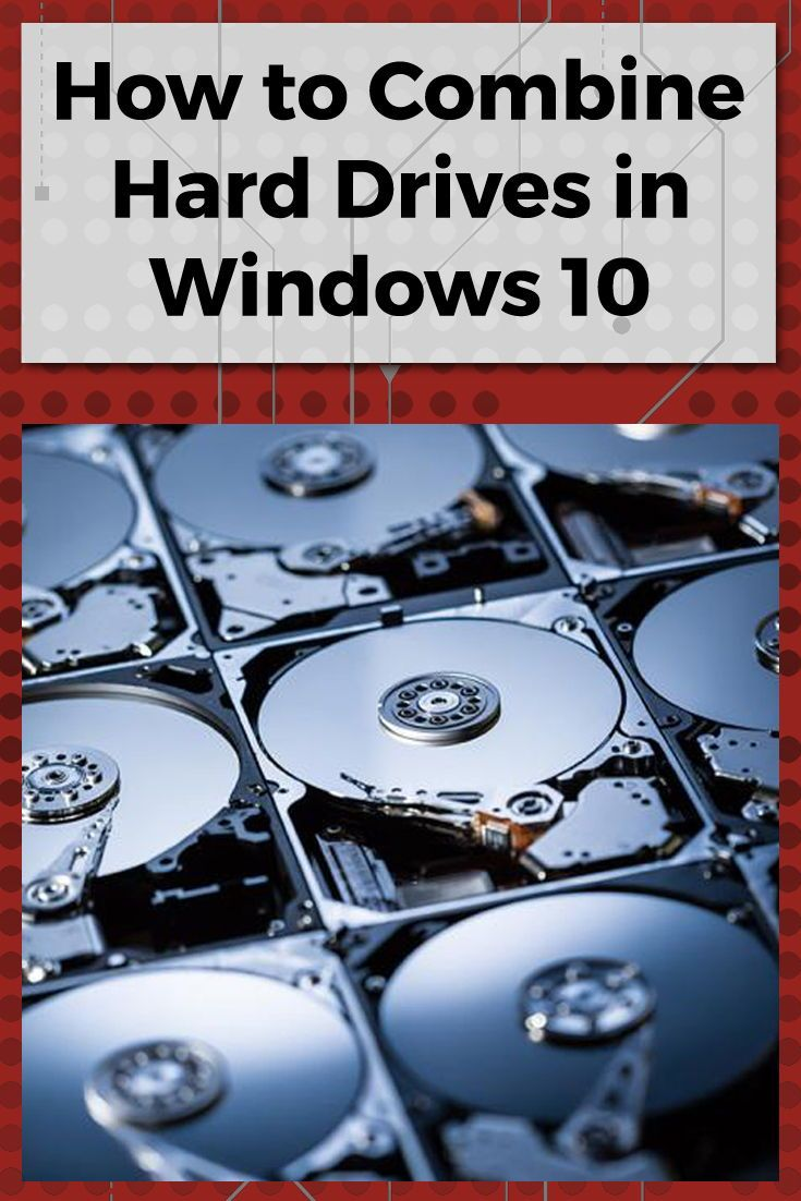 How to combine multiple hard drives with windows storage