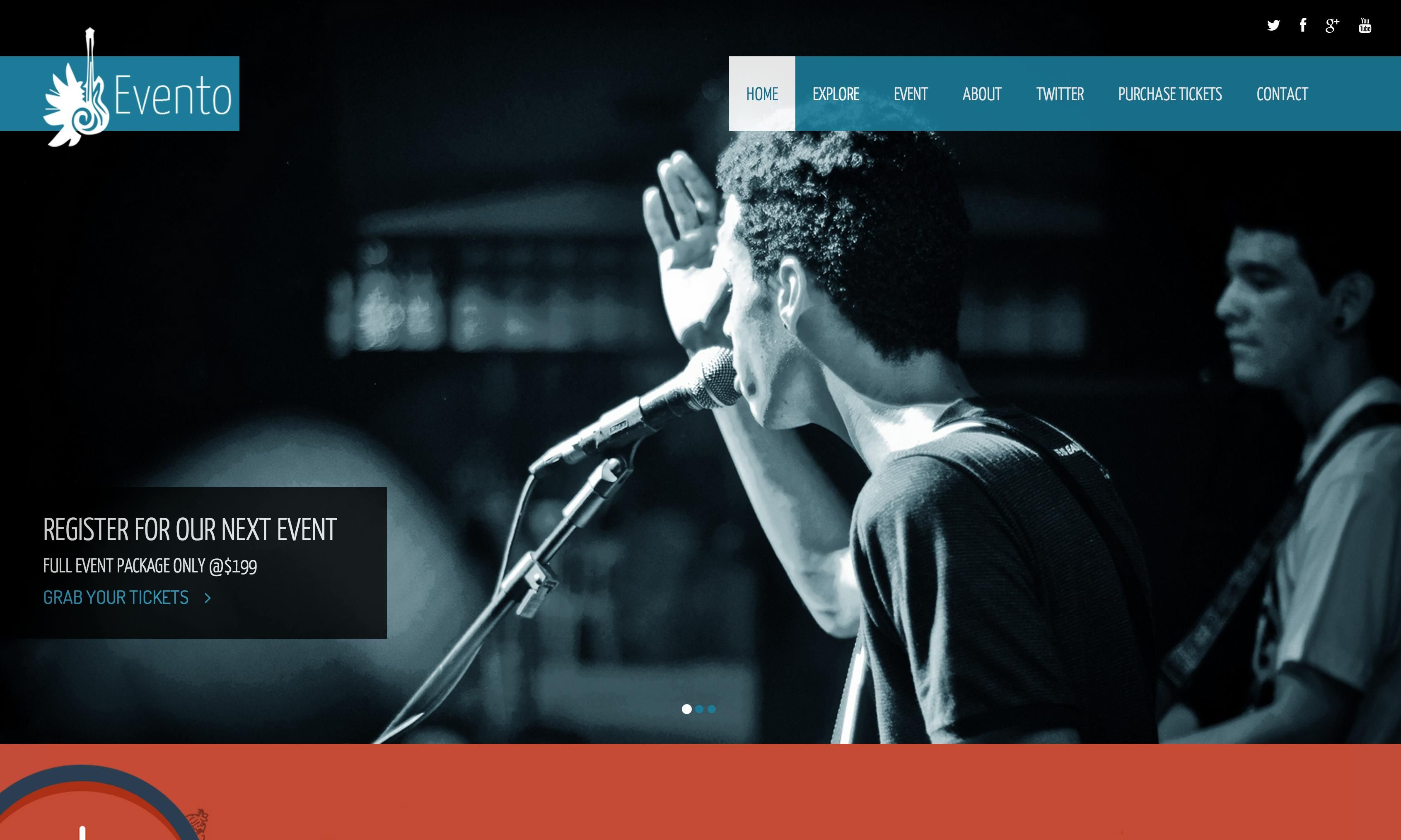 Free Bootstrap Themes & Templates - Evento - <p>One Page