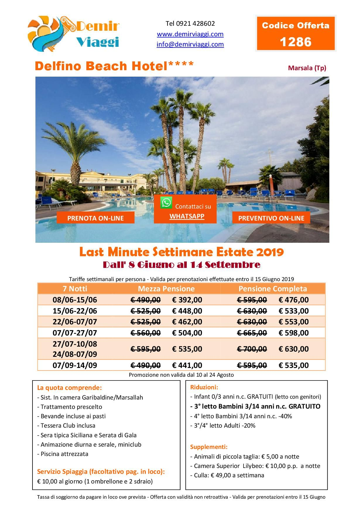 Delfino Beach Hotel**** - Marsala (Tp) Last Minute ...