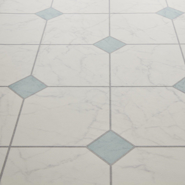 Bounce 23 scapa white green key diamond tile effect vinyl for Blue linoleum floor tiles