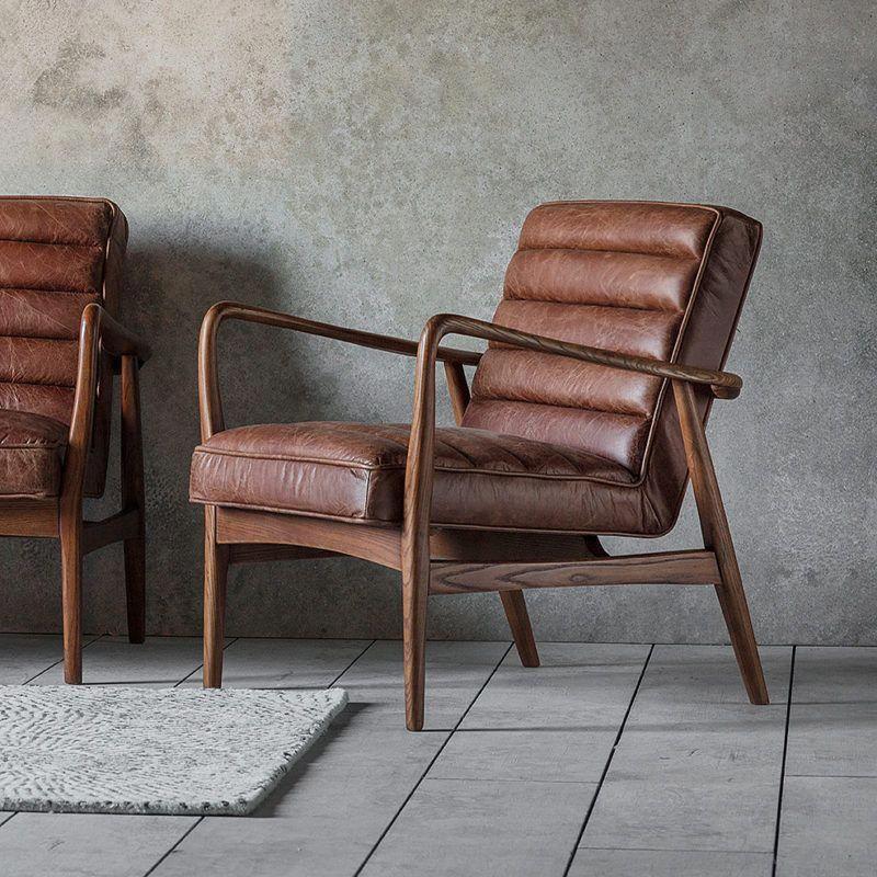 Mid Century Modern Armchair Chairsforrentnearme Leatherchaiseloungechair Leather Chair Living Room Brown Leather Furniture Brown Leather Armchair