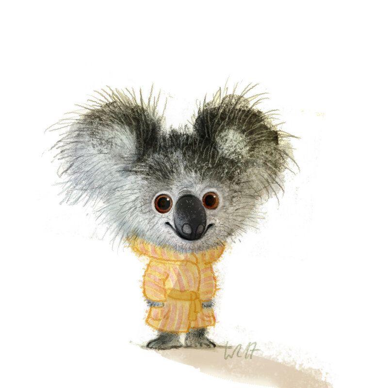картинка коала с лисой отличный