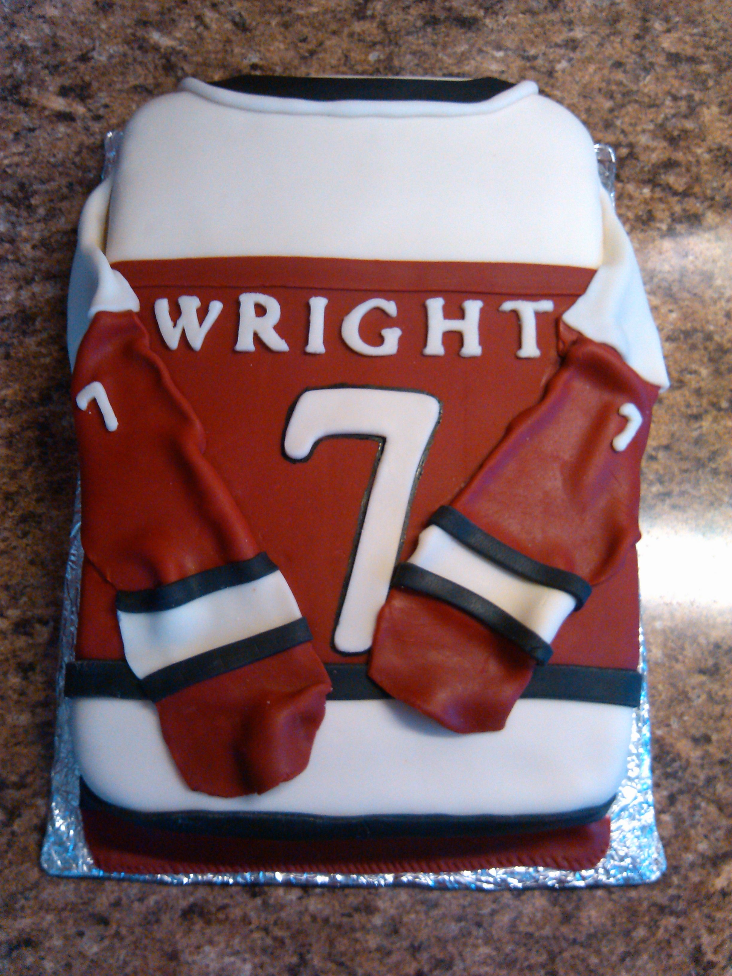 - Hockey Jersey Cake   Sport cakes, Hockey jersey, Cake