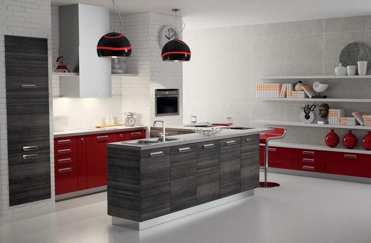 Îlot de cuisine et espace de repas intégré pour créer un coin ...
