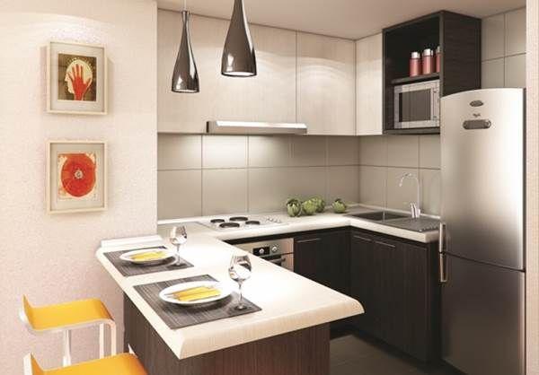 Cozinha planejada para apartamento pequeno ideias para a for Cocinas modernas apartamentos pequenos