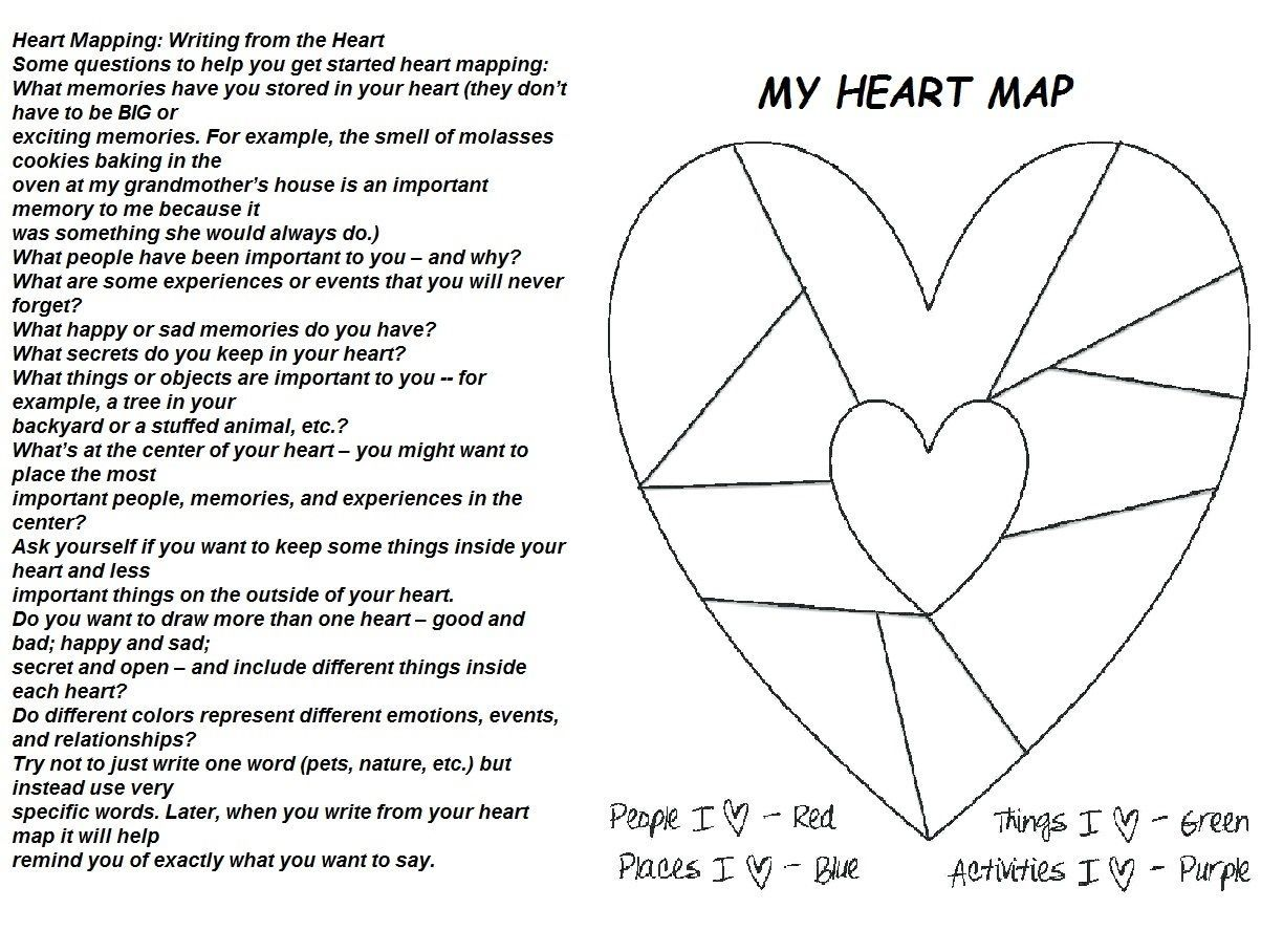 My Heart Map For Wreck It Journal