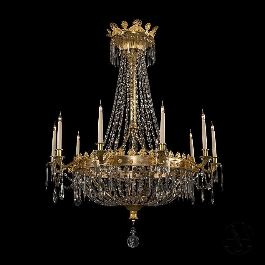 SALE! Vintage antique cut glass crystal chandelier $299