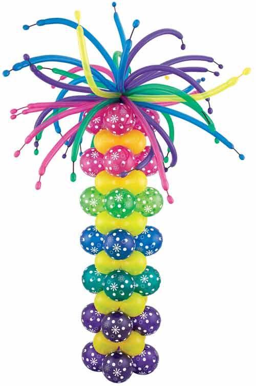 Crazy Hair Column Balloons Pinterest Decoración con globos - imagenes de decoracion con globos