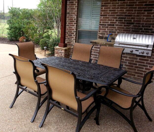Yard Art Patio Fireplace Hanamint S Tuscany Oblong Dining Table