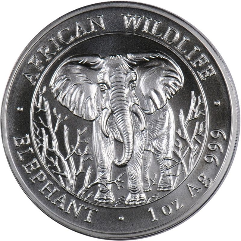 2018 1 Oz Silver SOMALIAN ELEPHANT EXCLUSIVE PHILADELPHIA ANA PRIVY Coin.
