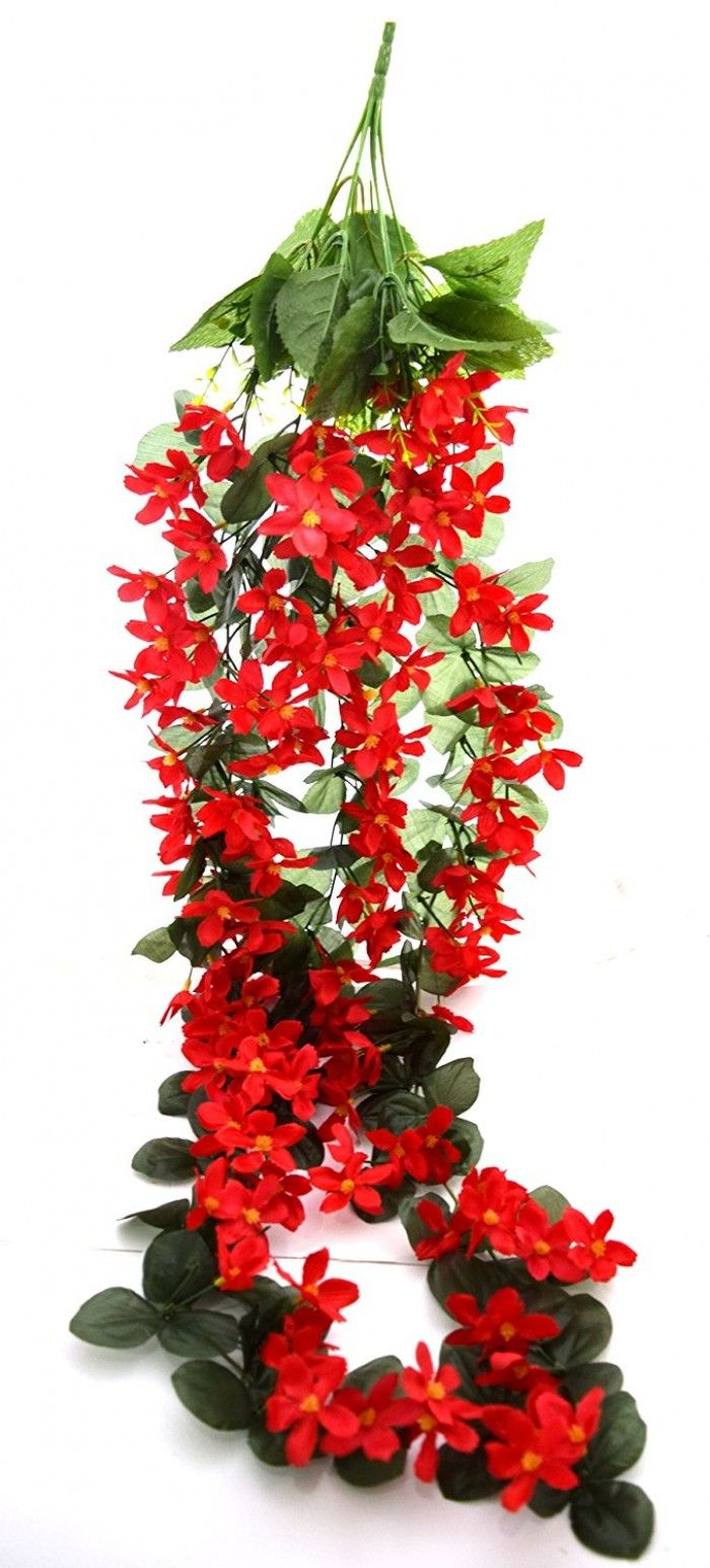 Artificial Orchid Floral Bale Red Artificial Flower Bunches And
