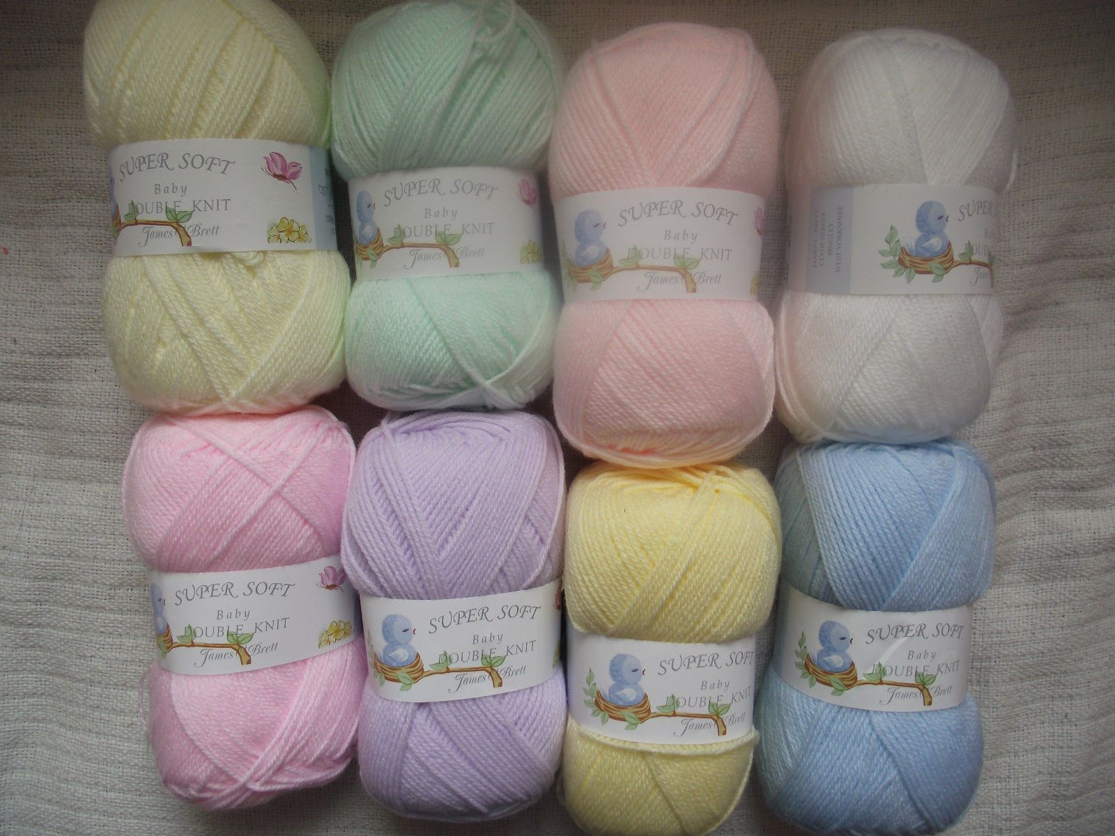 8.8 GBP - 800G Super Soft Baby Double Knitting Wool - James C