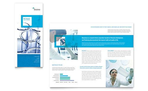 Science \ Chemistry Tri Fold Brochure Template Brochures   Brochure  Template Free Download Microsoft Word  Microsoft Word Flyer Template Free