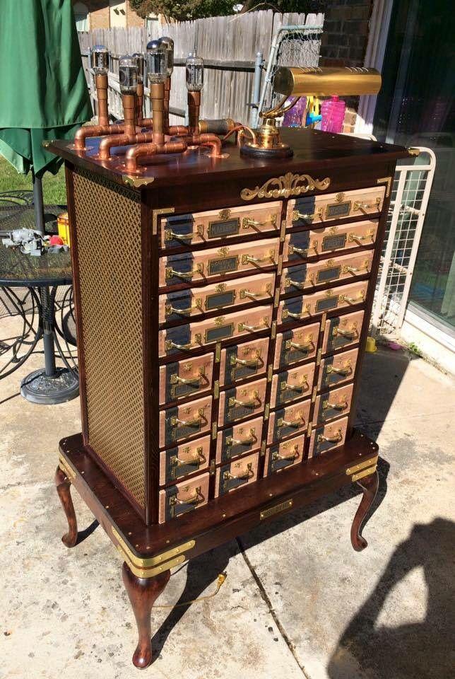 Steampunk cabinet | Cabinet, Home decor