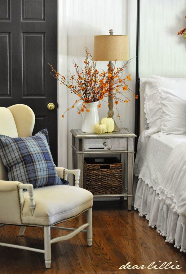 Dear Lillie Autumn Touches In The Guest Bedroom Guest Bedroom Winter Home Decor Home Bedroom Autumn touches in guest bedroom
