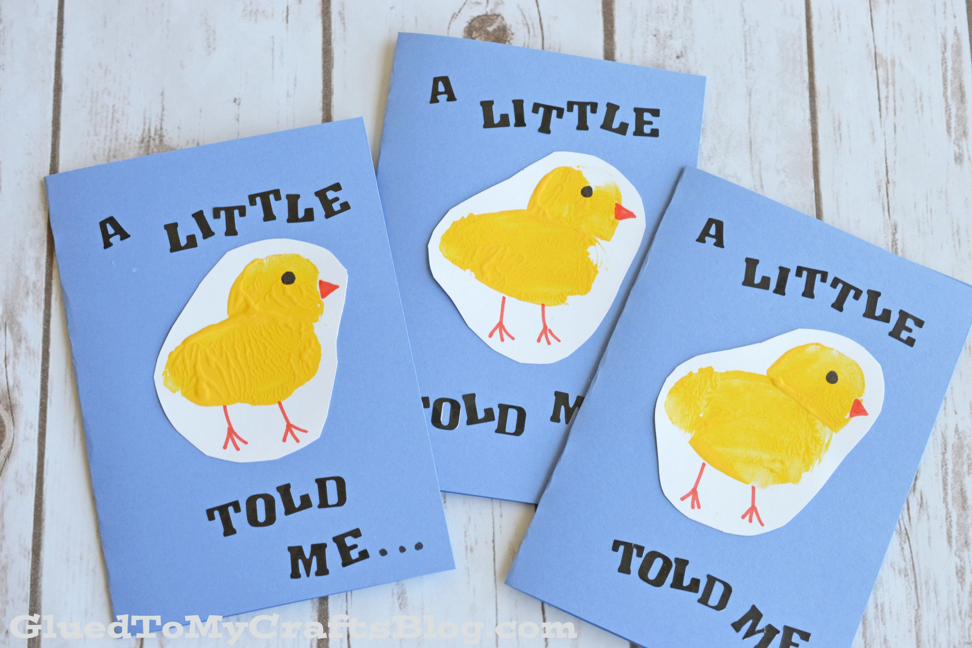 Potato stamped baby chick cards kid craft cards craft and babies