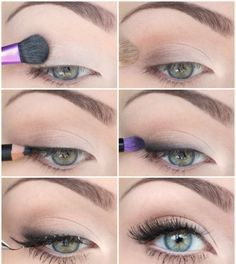 Make up blaues kleid blaue augen